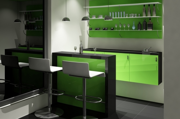 C mo dise ar un bar para tu casa alto lago privada for Muebles minimalistas para casas pequenas