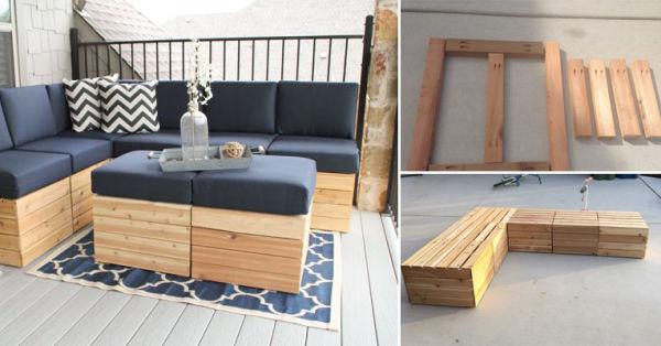 C mo hacer asientos modulares de madera alto lago privada residencial - Como hacer un sillon paso a paso ...