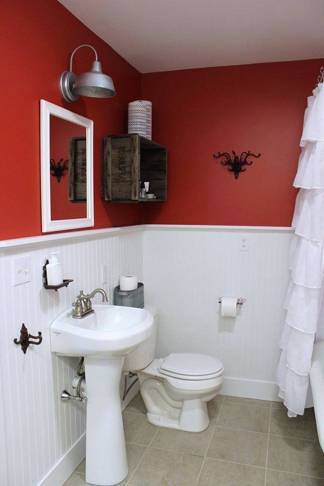bathroom red and white dise 209 o de cuarto de ba 209 o alto lago privada residencial 16370