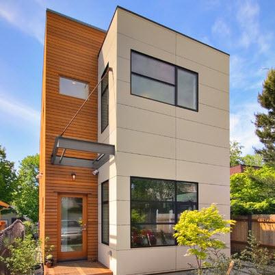 Dise o arquitect nico para fachadas de casas residenciales for Fachadas modernas para oficinas
