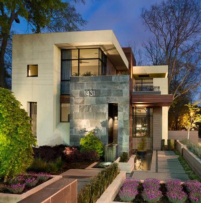 Dise o arquitect nico para fachadas de casas residenciales for Fachadas de casas interiores
