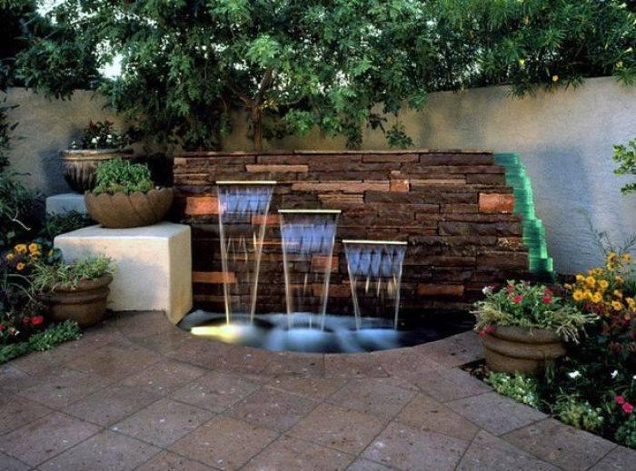 Fuente de agua para jard n alto lago privada residencial - Fuentes de patio ...