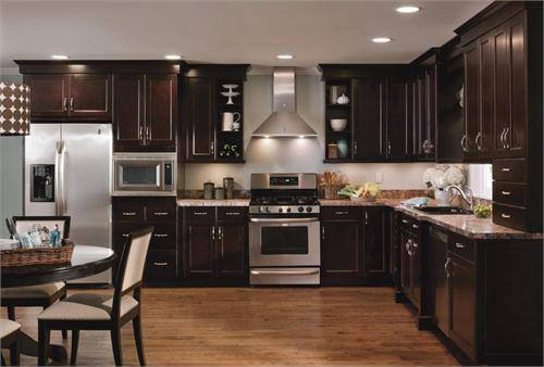 Gabinetes modernos de cocina color caf alto lago for Gabinetes de cocina modernos