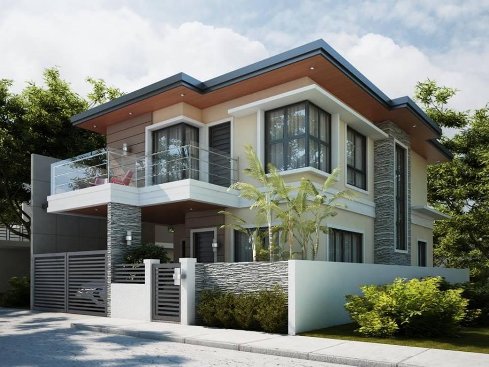 ideas para fachadas de casas alto lago privada residencial