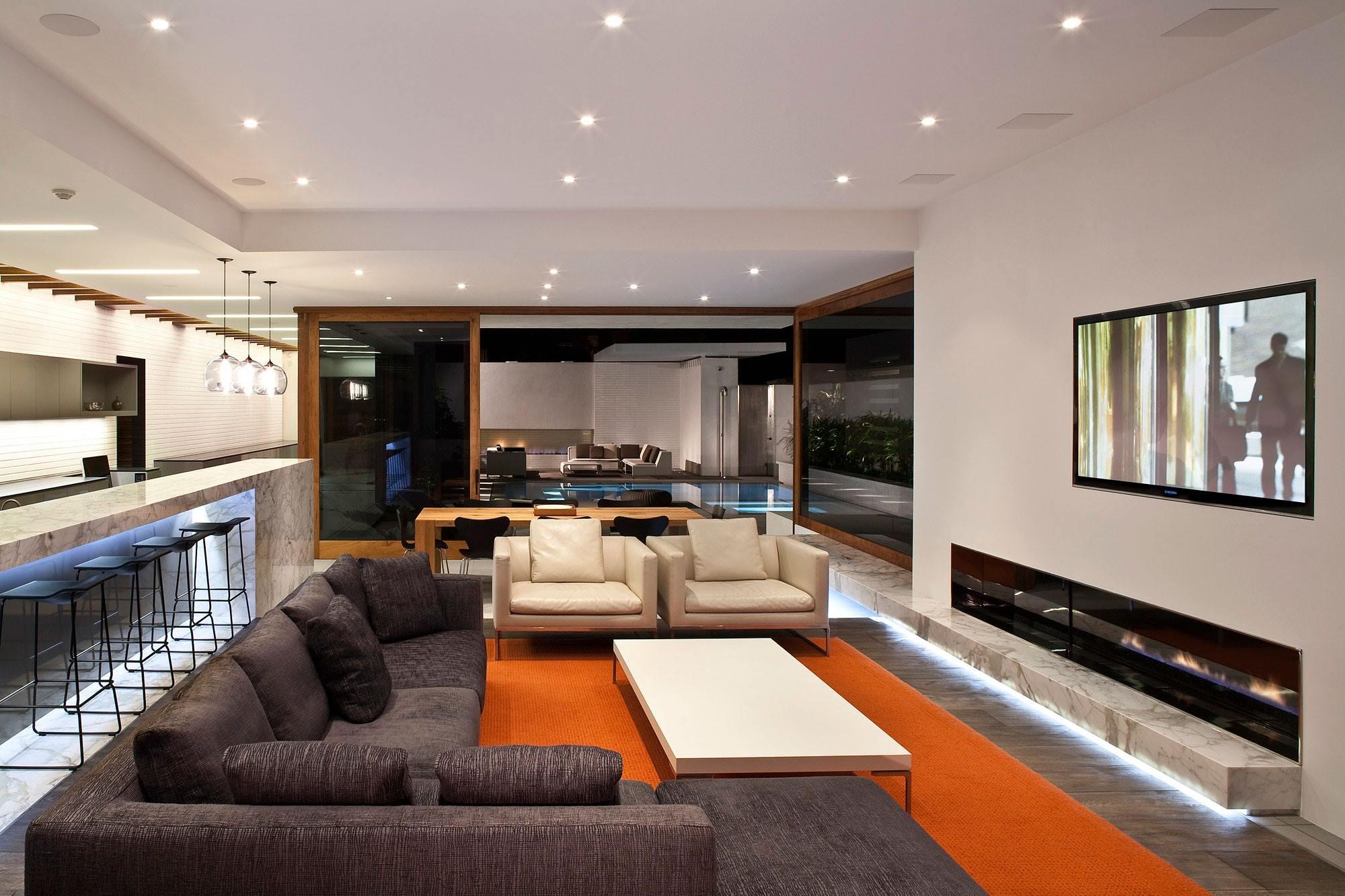 Lujosa arquitectura moderna con elegante dise o de - Arquitectura de diseno ...