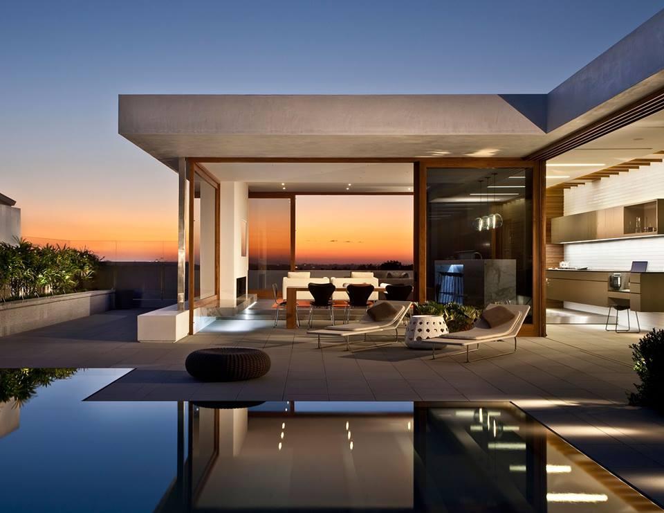 lujosa arquitectura moderna con elegante dise o de