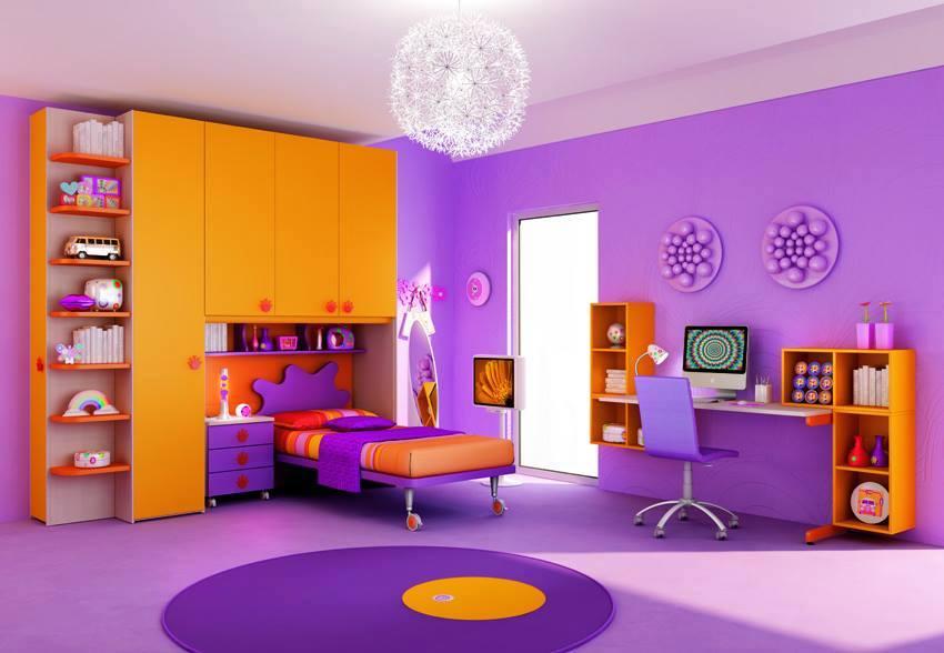 Morado el color ideal para la decoraci n en la habitaci n for Cuartos para ninas morados