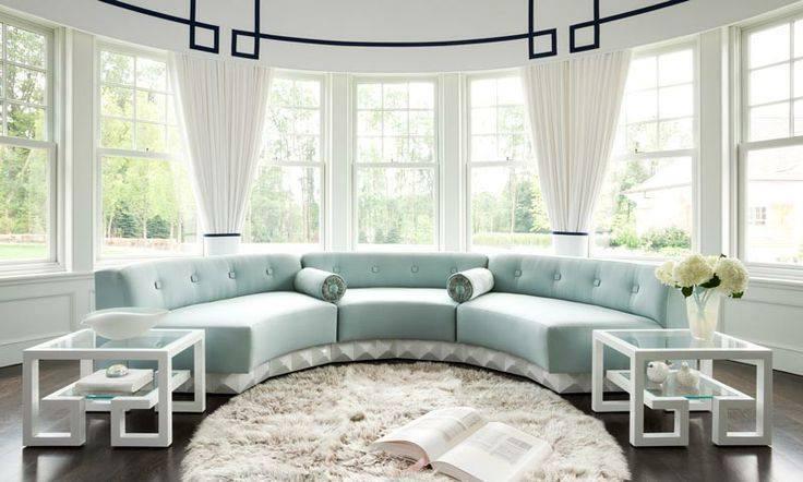 Novedosos modelos de salas en forma de media luna para el hogar alto lago privada residencial - Arredamenti vintage casa ...